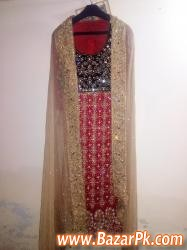 Embroided Long Shirt With Jamawar Lehnga And Embroided Dupatta