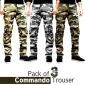 Pack of 3 Commando Trousers in Just Rs. 949/-